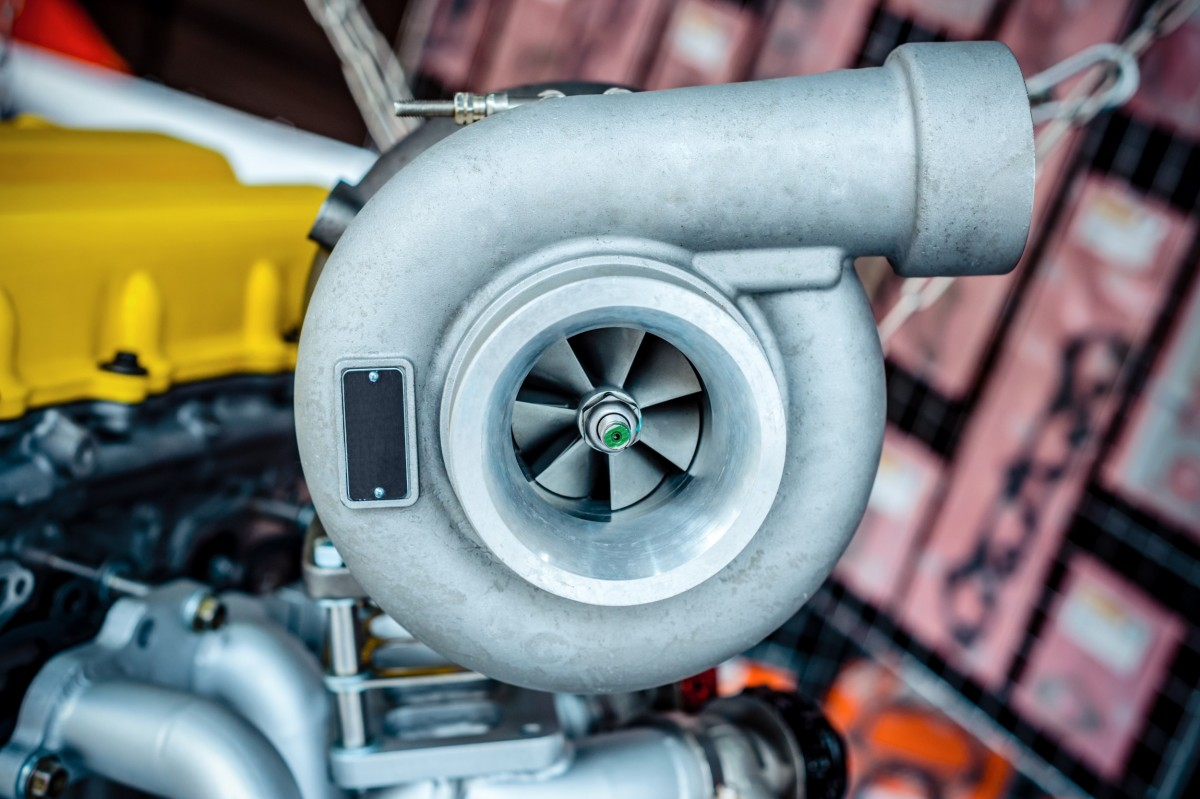 turbocharger on car